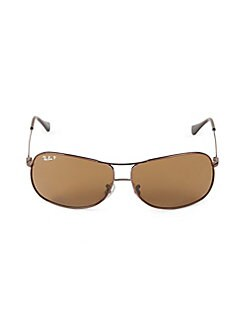 a02eaaf03d1 64MM Wire Frame Aviator Sunglasses BROWN. QUICK VIEW. Product image