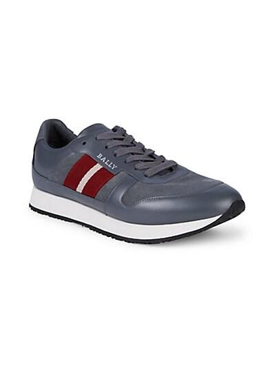 aa3283e5bf92c7 Bally Sprinter Striped Sneakers; Bally Sprinter Striped Sneakers