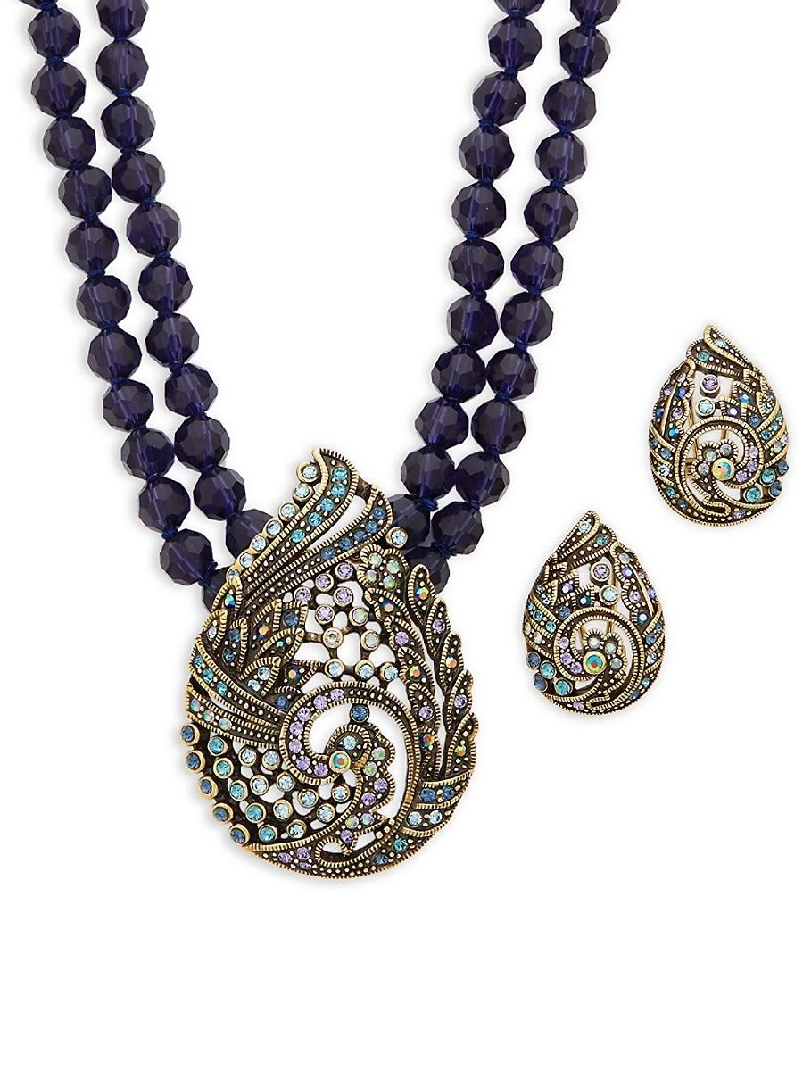 Women's Paisley Necklace & Earrings Set