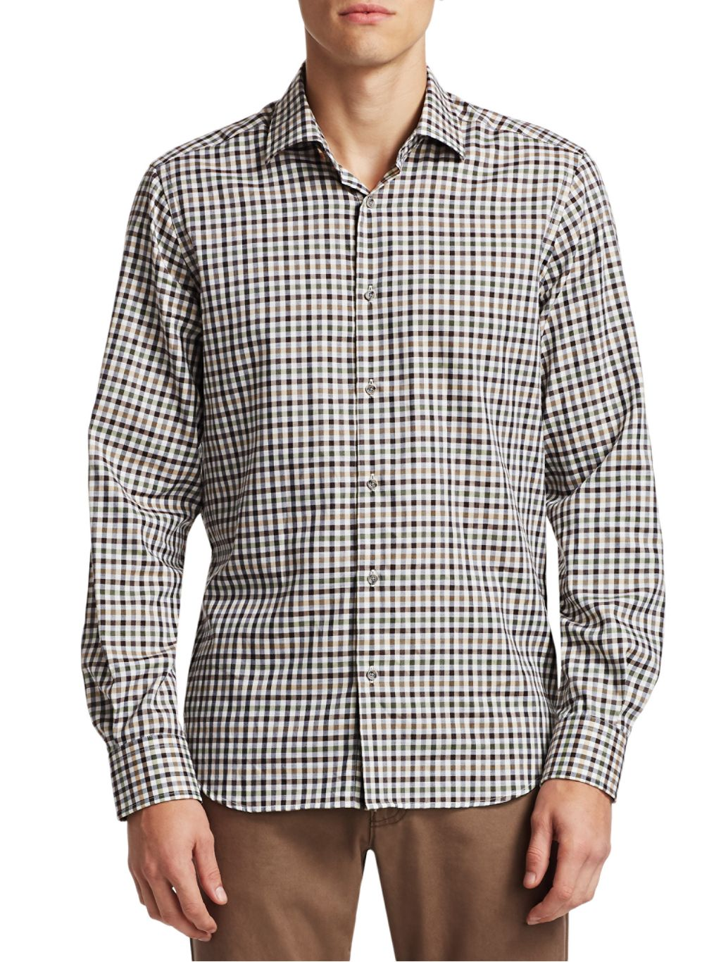 Saks Fifth Avenue COLLECTION Check Shirt