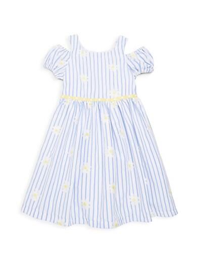 e465addc9f Pippa   Julie Little Girl s Striped Cold-Shoulder Dress ...