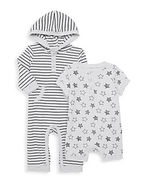 Little Me Baby Boys 2 Pack Coverall and Romper