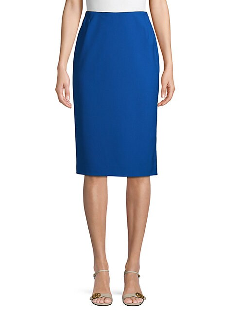 LAFAYETTE 148 NEW YORK | Slim-Fit Wool Blend Pencil Skirt | Goxip