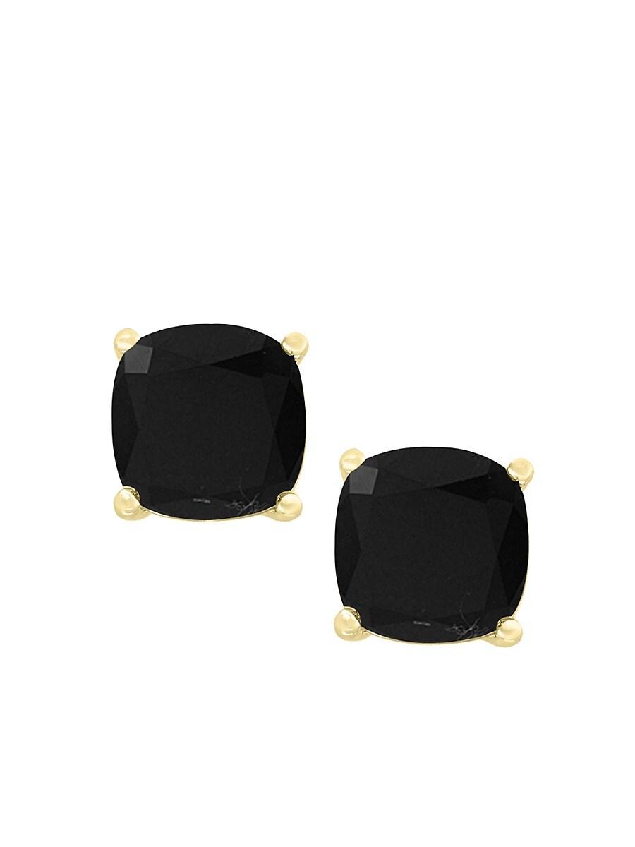Women's July 14K Yellow Gold & Onyx Stud Earrings