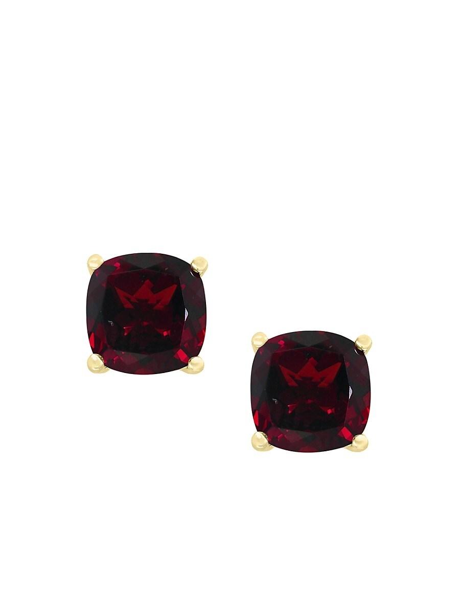 Women's January 14K Yellow Gold & Garnet Stud Earrings