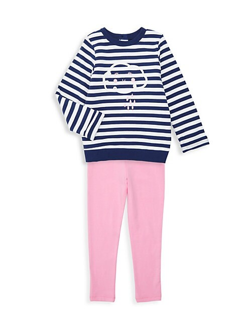 Little Girls 2Piece Cloud Sweatshirt  Leggings Set
