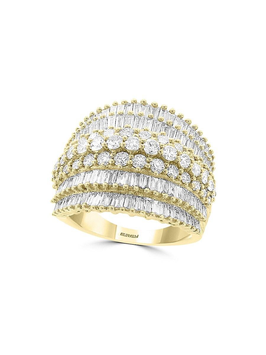 Women's 14K Yellow Gold & Diamond Ring/Size 7