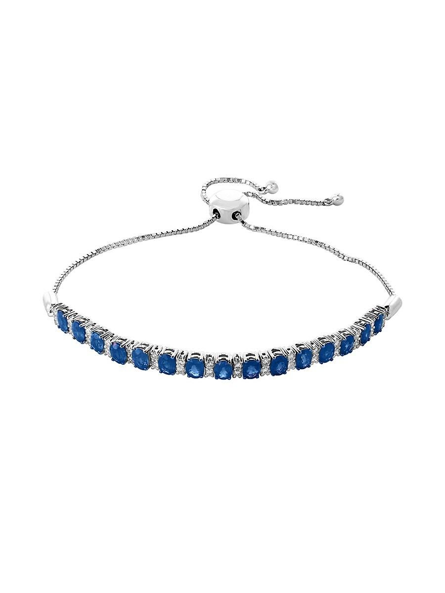 Women's 14K White Gold Diamond & Sapphire Bracelet