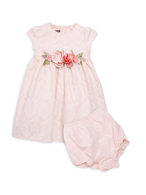 Baby Girls 2Piece Lace Dress  Bloomers Set