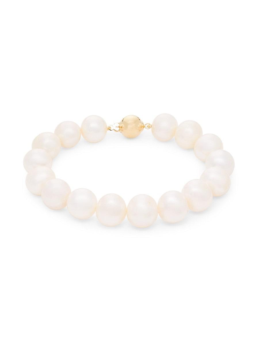 Women's 14K Yellow Gold & 10MM Freshwater Pearl Bracelet
