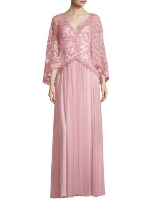 Tadashi Shoji Tops Lace Floor-Length Gown