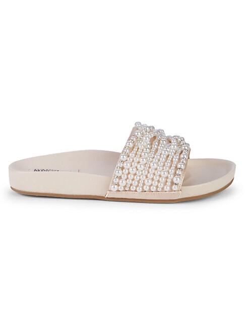 BADGLEY MISCHKA | Florence Imitation Pearl Slide Sandals | Goxip
