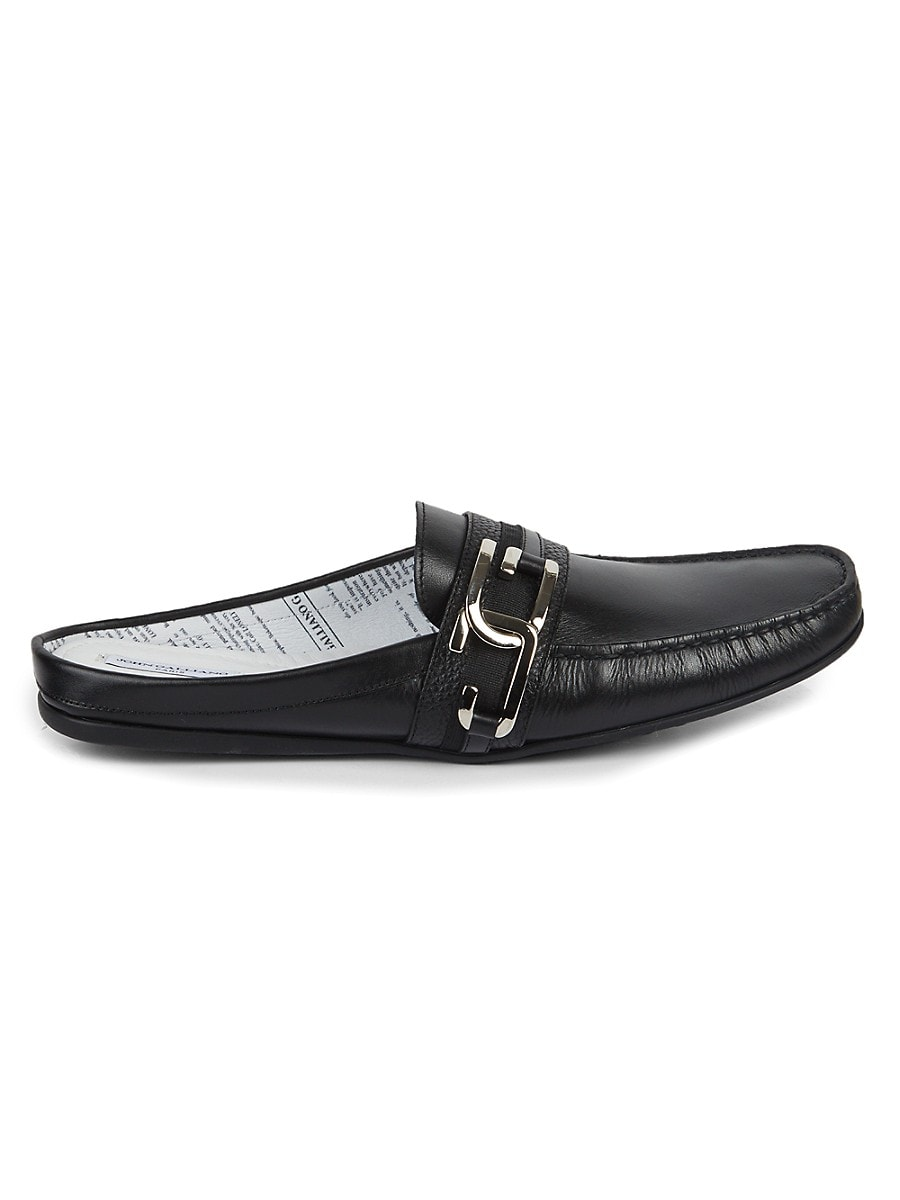 Men's Leather Loafer Mules