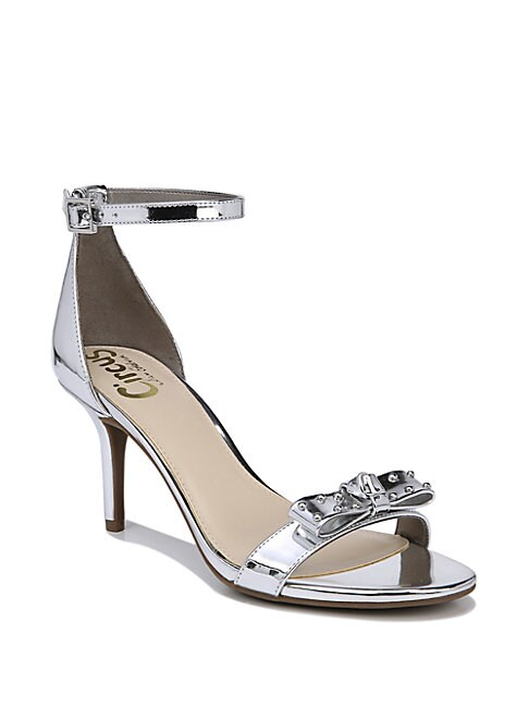 CIRCUS BY SAM EDELMAN | Pandora Metallic Ankle Strap Sandals | Goxip