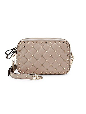 Quilted Stud Leather Crossbody Bag by Valentino Garavani