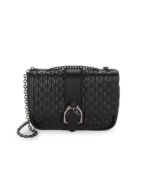 LONGCHAMP   Quilted Leather Chain Shoulder Bag   Goxip