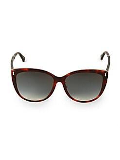 612726e830de Gucci. 58MM Havana Tortoiseshell Square Sunglasses