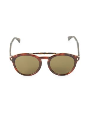 Gucci 52Mm Round Sunglasses In Brown