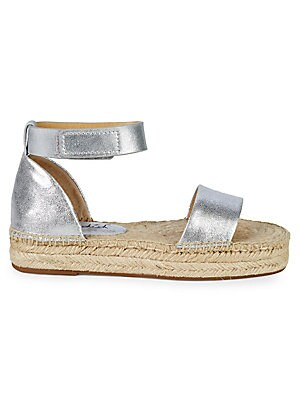 6fd905abd6e Splendid - Jensen Metallic Leather Flat Espadrilles - saksoff5th.com
