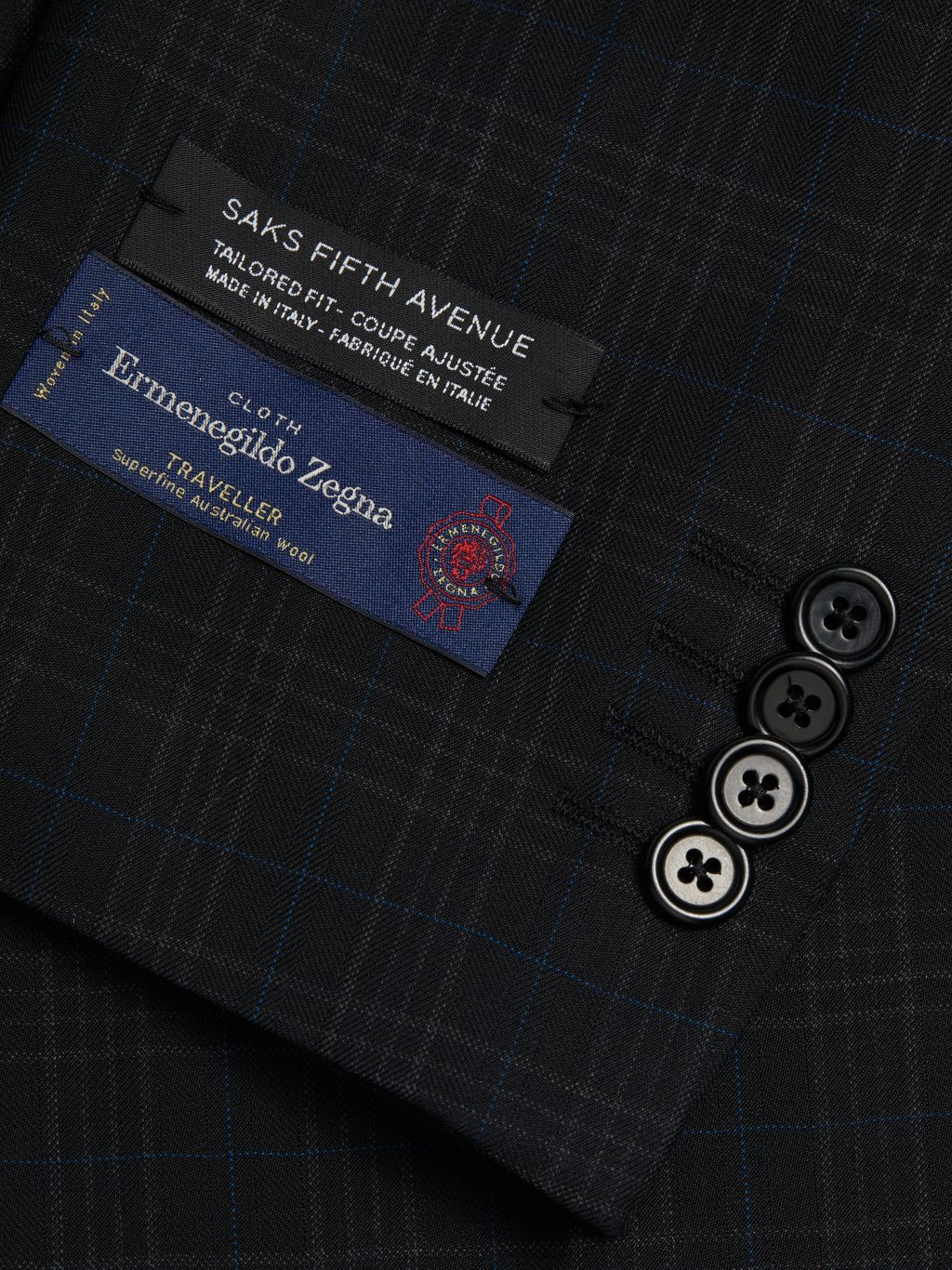 Saks Fifth Avenue Made in Italy Tailored-Fit Wool Suit