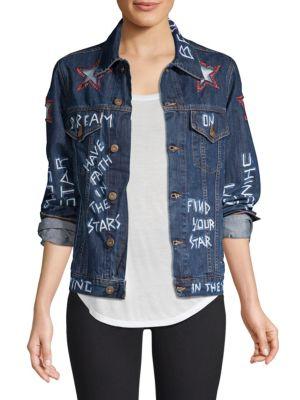 Faith Connexion Jackets Graffiti Denim Jacket