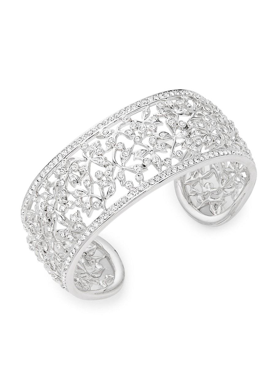 Women's Crystal Floral Cuff Bracelet