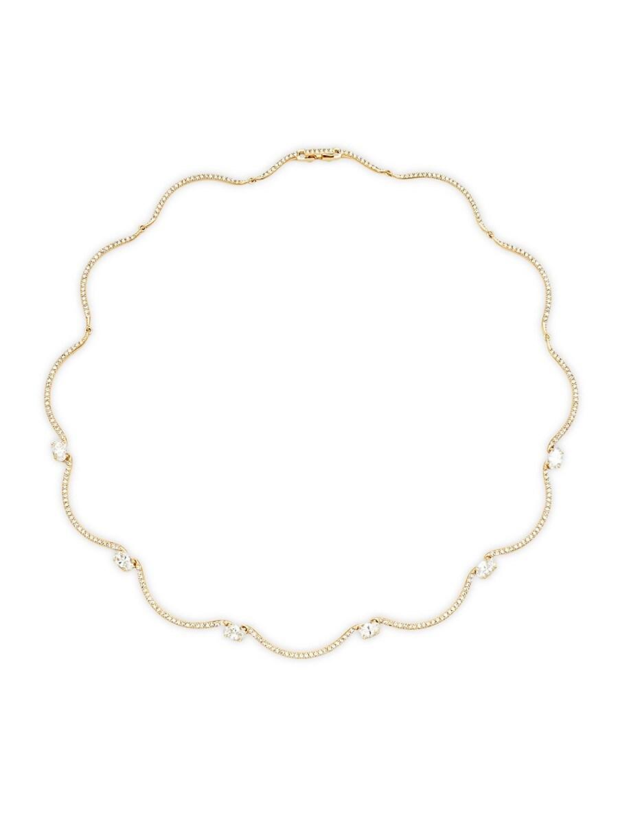 Women's Adella Goldtone Crystal Collar Necklace