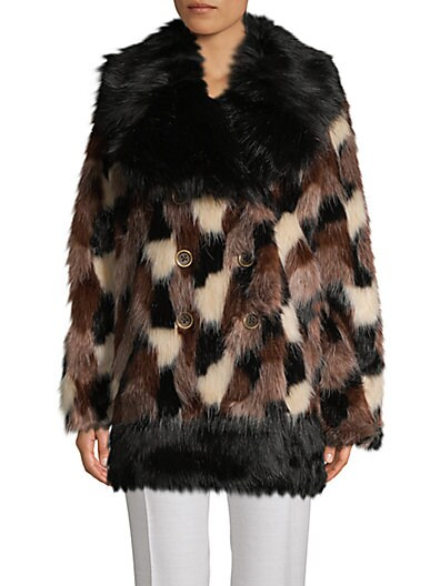 d26ddcf16069 Marc Jacobs Double-Breasted Faux Fur Coat ...