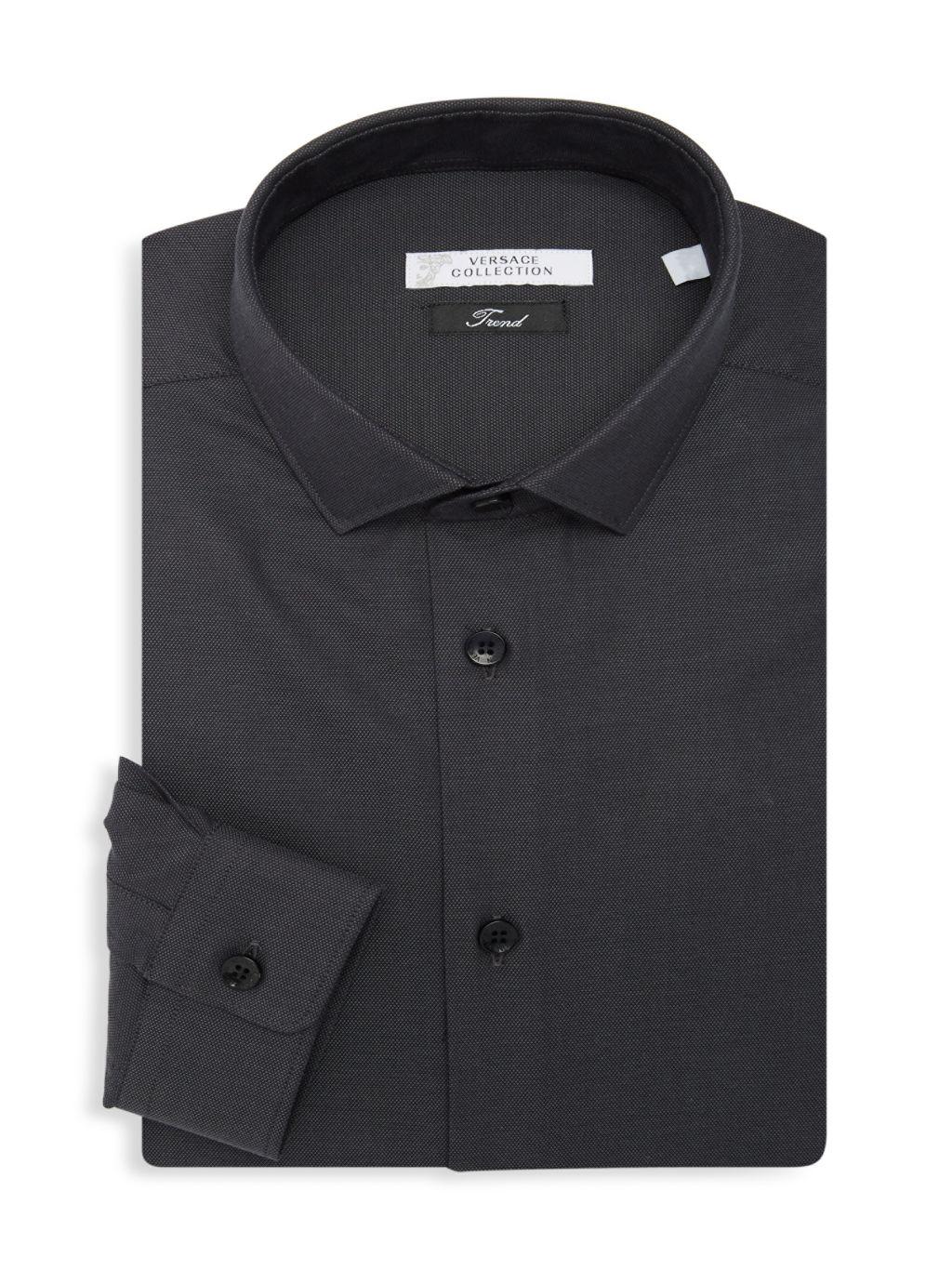Versace Collection Textured Dress Shirt
