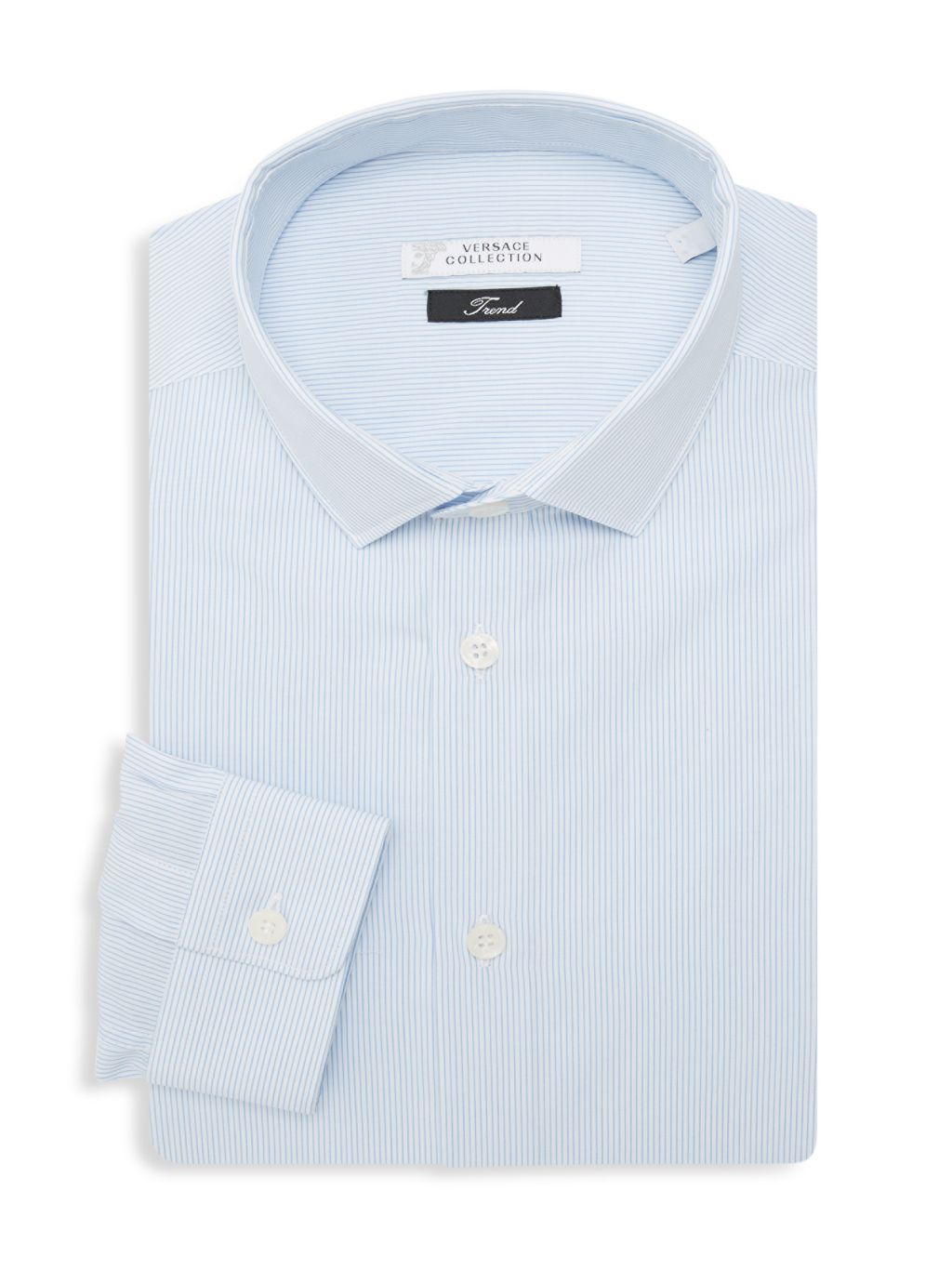Versace Collection Trend Fit Striped Dress Shirt