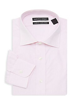 a63cdde46 Product image. QUICK VIEW. Saks Fifth Avenue. Classic Fit Poplin Dress Shirt