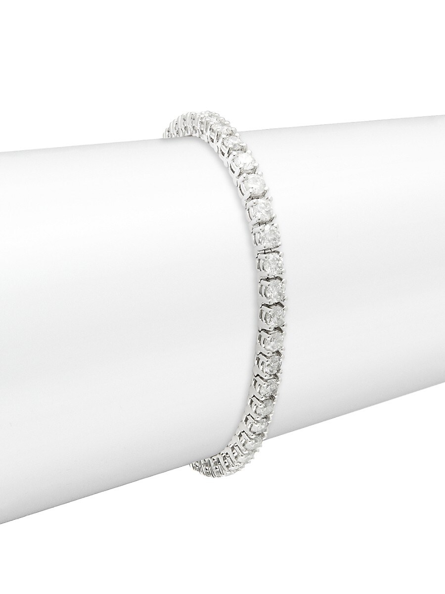 Women's 14K White Gold & 8 TCW Diamond Tennis Bracelet