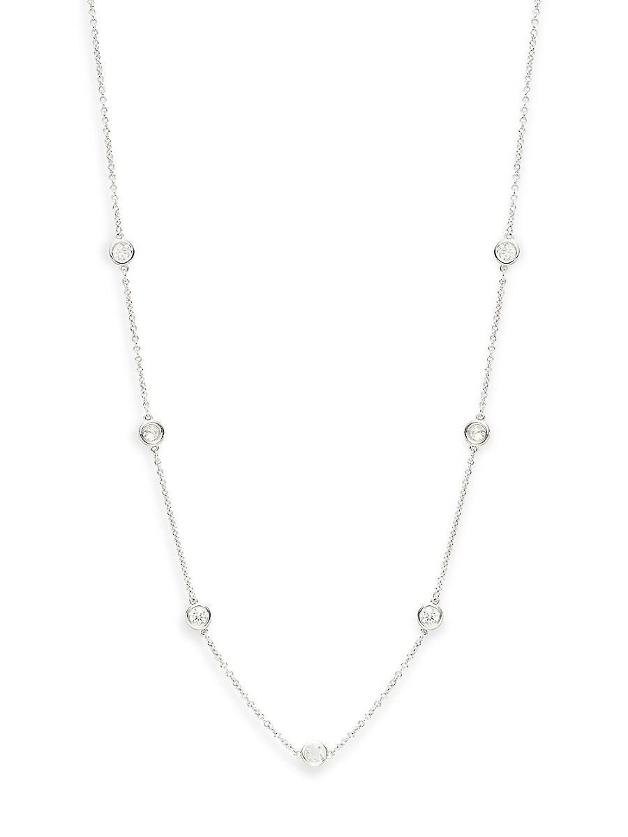 Women's 14K White Gold & 0.70 TCW Diamond Necklace