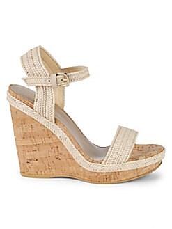 a3389851adc QUICK VIEW. Stuart Weitzman. Jezebel Leather Wedge Sandals