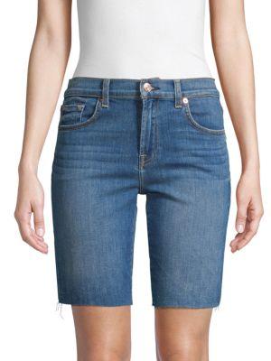 7 For All Mankind Shorts High-Rise Denim Bermuda Shorts