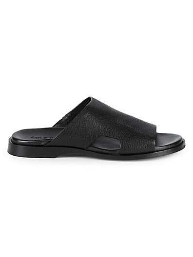 b6d2a62312e5 Cole Haan Goldwyn Pebble-Leather Slide Sandals ...