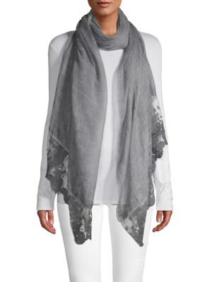 La Fiorentina Accessories Lace Trim Scarf