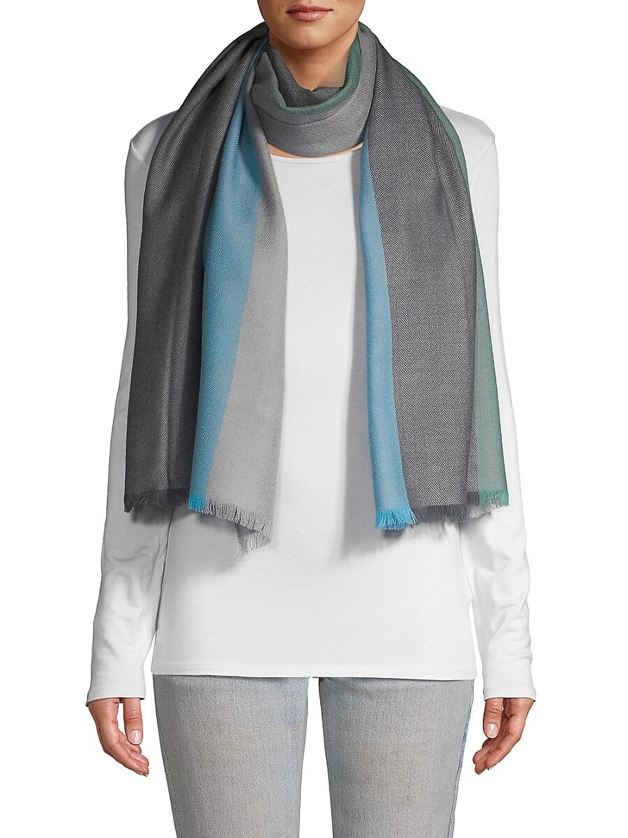 Women's Colorblock Wool Scarf