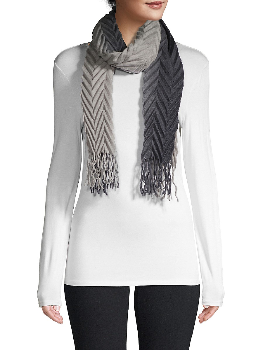 Women's Pleated Ombre Scarf