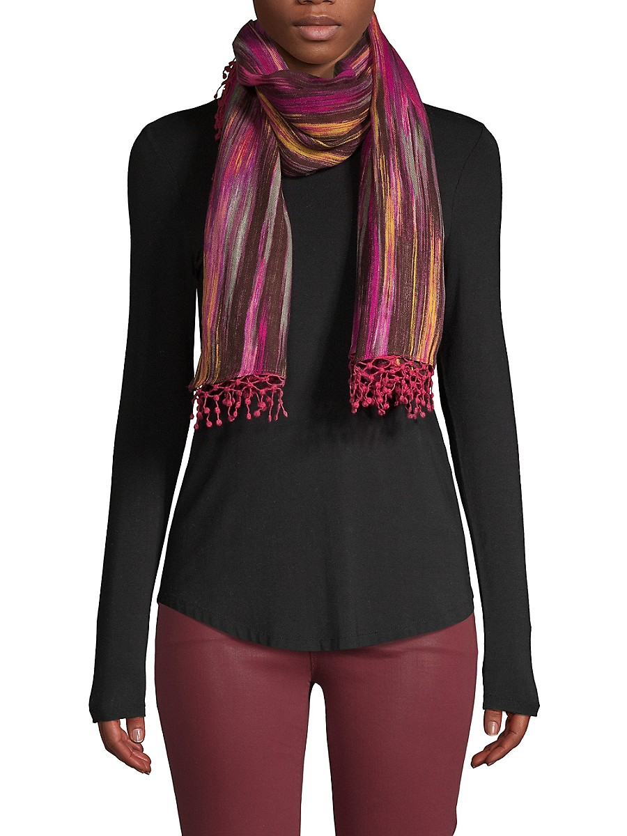 Women's Abstract-Print Wool Scarf
