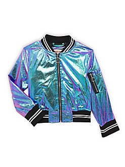 0b4287503 Product image. QUICK VIEW. Urban Republic. Baby Girl's, Little Girl's &  Girl's Metallic Bomber Jacket