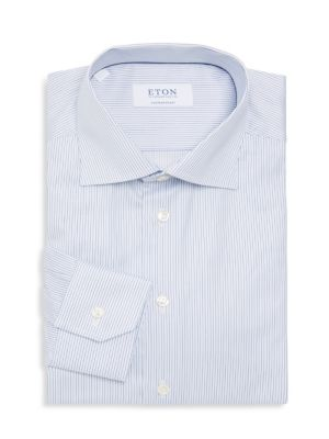 Eton  Contemporary Fit Striped Dress Shirt