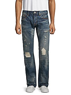 b14eed7b Product image. QUICK VIEW. Cult Of Individuality. Distressed Straight-Leg  Jeans