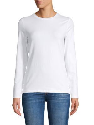Saks Fifth Avenue Long-Sleeve T-Shirt In White