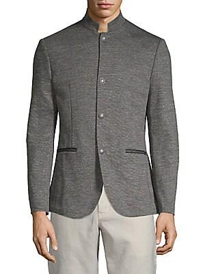 Mockneck Buttoned Jacket by John Varvatos