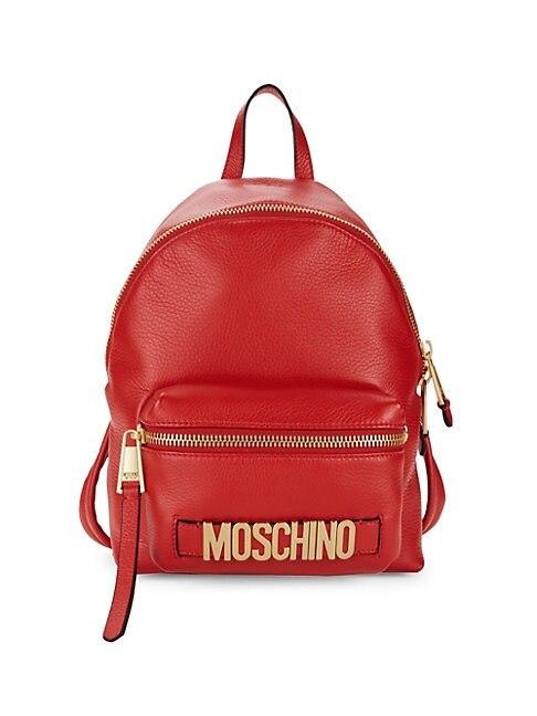 MOSCHINO | Logo Leather Backpack | Goxip
