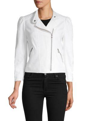 Rebecca Taylor Jackets Woven Moto Jacket