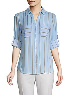 af26e343 Philosophy. Striped Button-Front Shirt