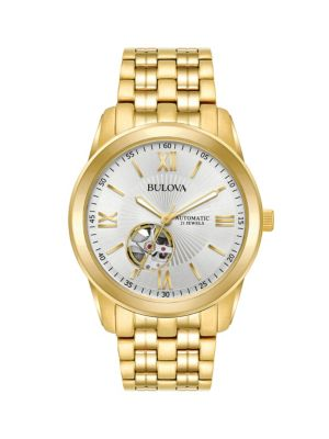 Bulova Watches Automatic Stainless Steel Bracelet Watch