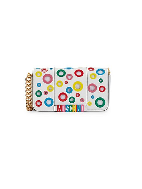 MOSCHINO | Multicolor Grommet Shoulder Bag | Goxip